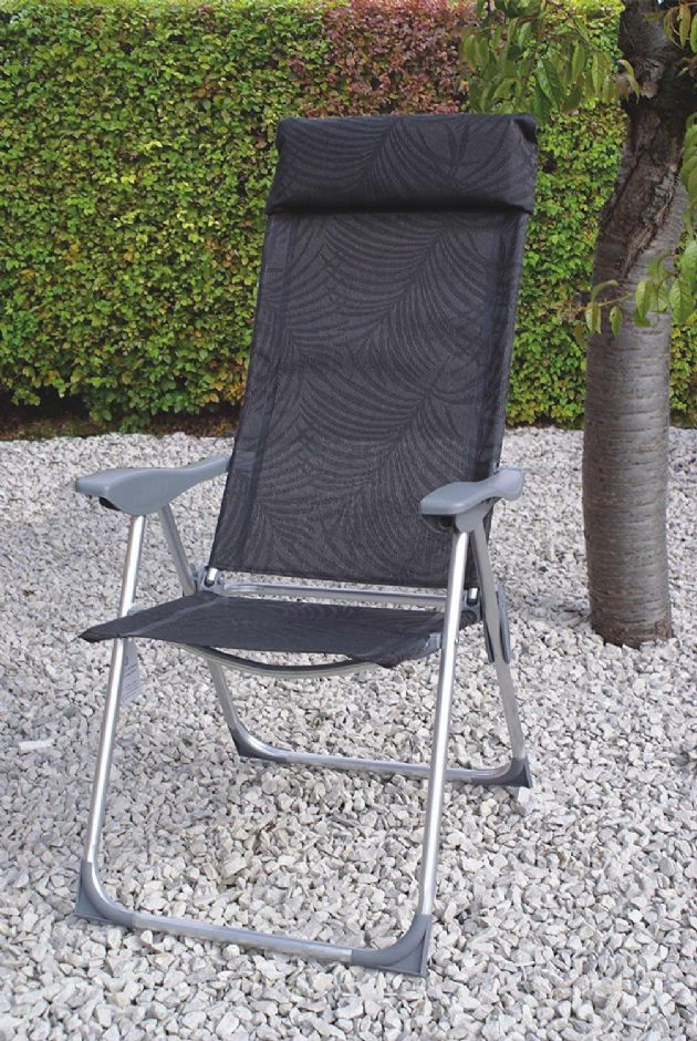 Streetwise Carona Aluminium Reclining Lightweight Chair ANTHRACITE, Garden Camping Chair - Grasshopper Leisure